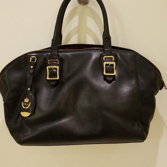 1af298c67b57 Black leather satchel